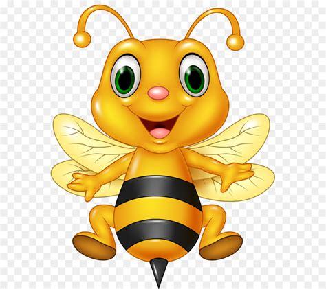 honey bee cartoon illustration cute bee png