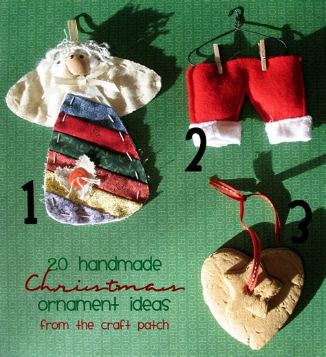 handmade christmas ornament ideas twenty handmade ornament ideas thecraftpatchblog