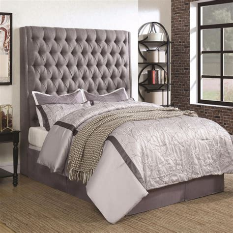 camille grey upholstered headboard  american