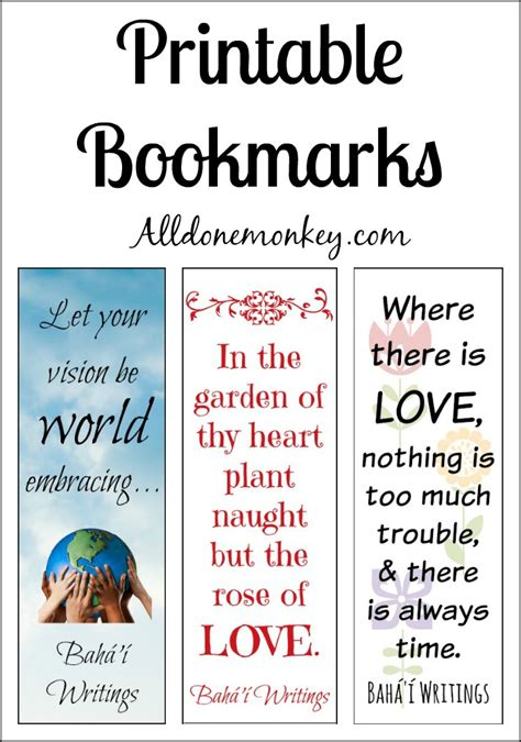 printable bookmarks  ayyam  ha   monkey