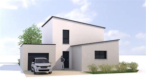 plan maison 3 chambres plain pied garage maison contemporaine rennes ille et vilaine 35 et