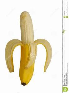 Peeled banana stock photo. Image of exotic, food, tropical ...
