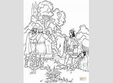 Indians are Offering Gifts to Vikings coloring page Free