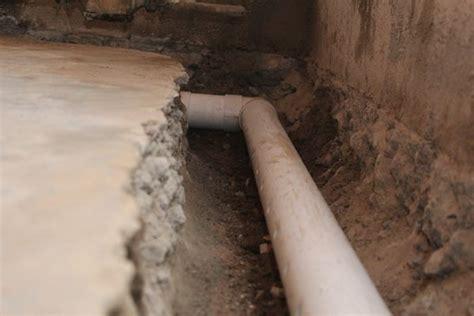 basement drainage pipe wet basements allied