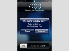 RemindMeLater Adds Snooze on Your iPhone Calendar Events