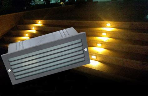 3w led outdoor wall l recessed decking light junction