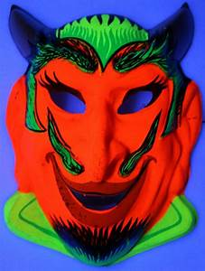 Vintage Devil Halloween Mask 1960s Zest Bar Demon Costume ...