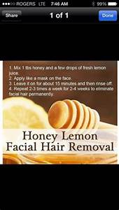 Natural Facial Hair Removal On Pinterest Hair Removal