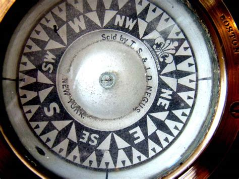 Best Small Boat Compass by A Beautiful 19th Century Small Boat Compass Signed E S