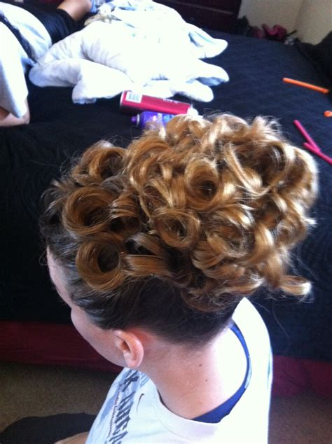 wear curly apostolic hair  minute curly updo