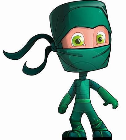 Ninja Cartoon Character Characters Vector Cartoons Graphicmama