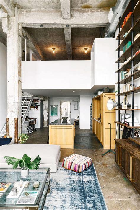 brooklyn loft  aged brick concrete floors