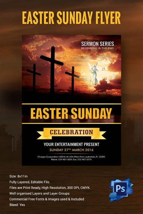 easter flyer templates  eps psd publisher