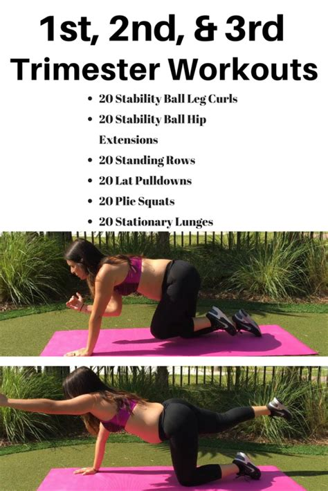 Pregnancy Workout For Every Trimester - Michelle Marie Fit