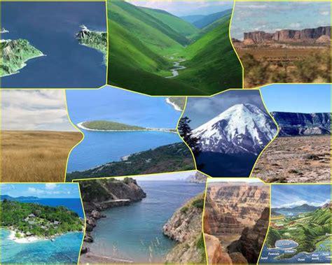 copy  geographic landforms