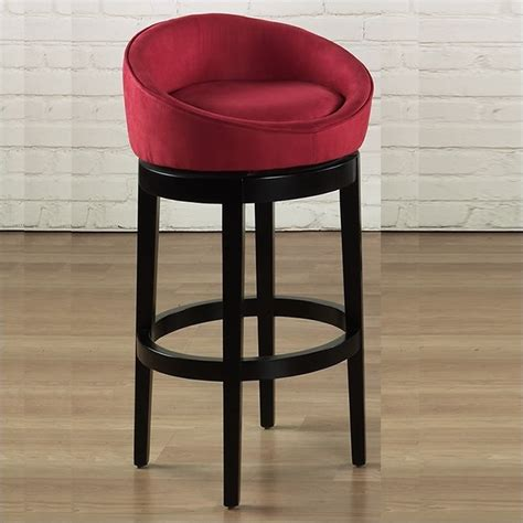 Microfiber Bar Stool - armen living igloo 30 quot microfiber swivel bar stool