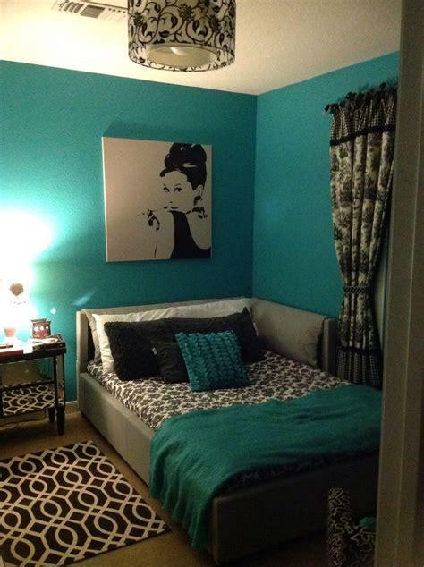 bedroom teal bedroom decor  floral window curtains