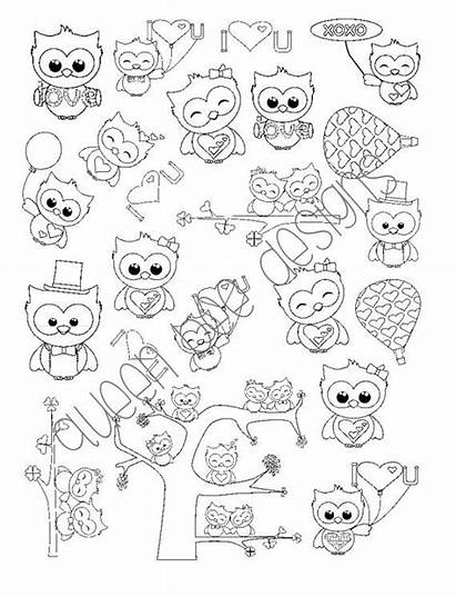 Stickers Coloring Pages Planner Sheets Own Owls