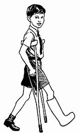 Crutches Clipart Cliparts Injuries Clip Boy Library Polian Pissed Bill sketch template