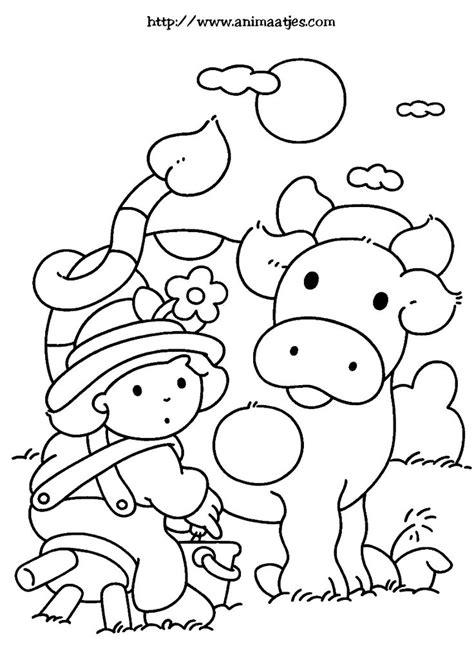 Kleurplaat Koe Melken by 90 Best Boerderij Kleurplaten Images On Cow