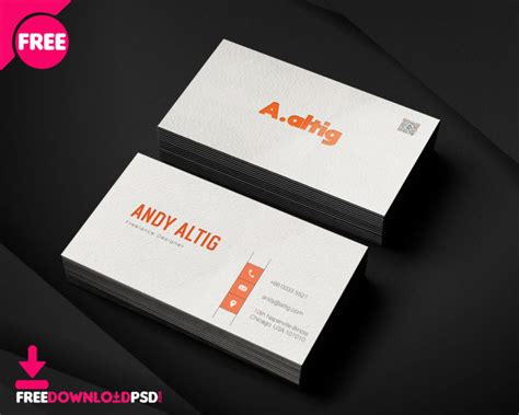 freelance business card psd template freedownloadpsdcom