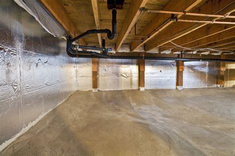 covering basement crawl space floor with plastic vapor barrier midwest basement tech benefits of installing a crawl space vapor barrier for your springfield