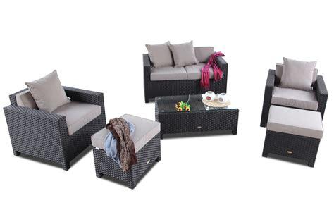 lounge gartenmöbel 2 wahl gartenm 246 bel set rattan lounge samoa in braun