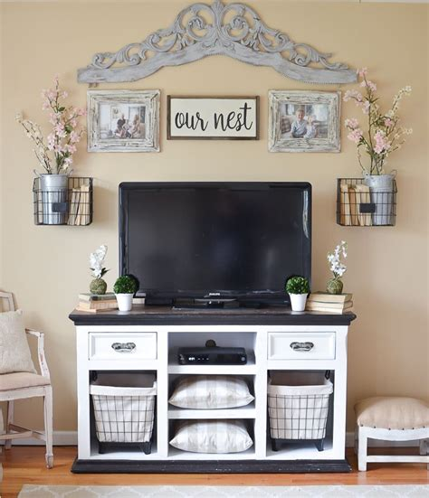 Bedroom Tv Stand Australia by Easy Farmhouse Style Tv Stand Makeover Decorating Ideas