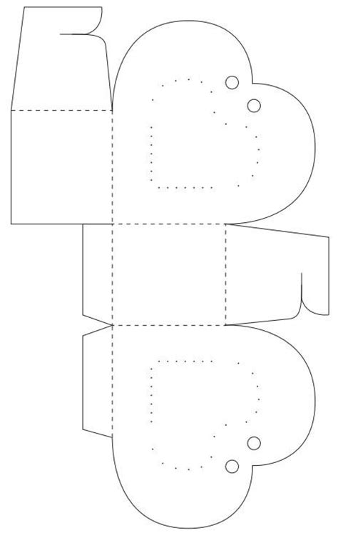 16 Best Photos of Paper Heart Box Template - Paper Box