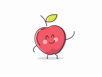 Apple Eat Fruit Animation Mazana Imessage Users