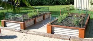 corrugated iron raised garden beds corrugated iron