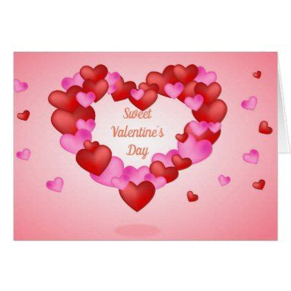 sweet pink  purple heart valentines day card
