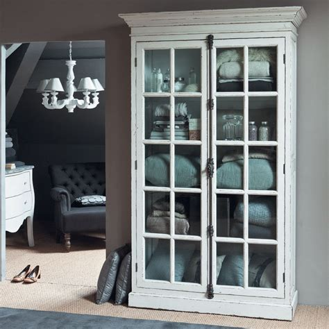 vitrine en orme blanche   cm storage cabinets laundry rooms  laundry