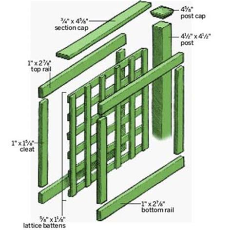 How To Build A Lattice Building A Lattice Fence On A Slope Free Pdf