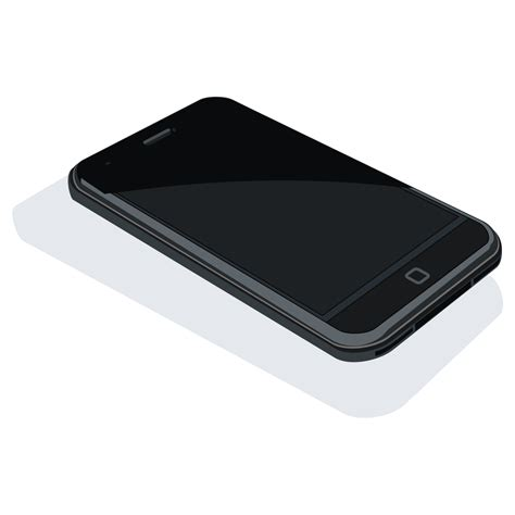 iphone image vector for free use black iphone