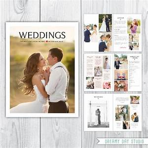 Wedding photography magazine template wedding pricing for Wedding photography magazine template