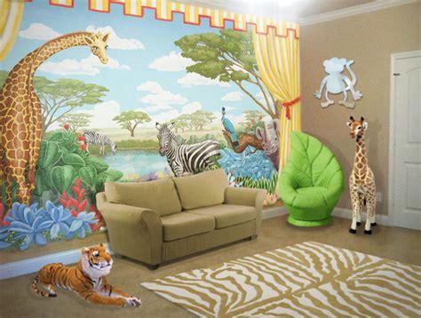 Safari Mural In Playroom