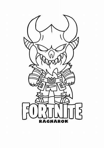 Fortnite Coloring Pages Ragnarok Printable Battle Royale