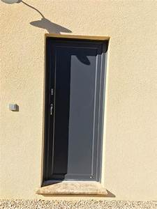 porte de service gris anthracite 20170710060751 arcizocom With porte d entrée alu avec spot encastrable etanche salle de bain