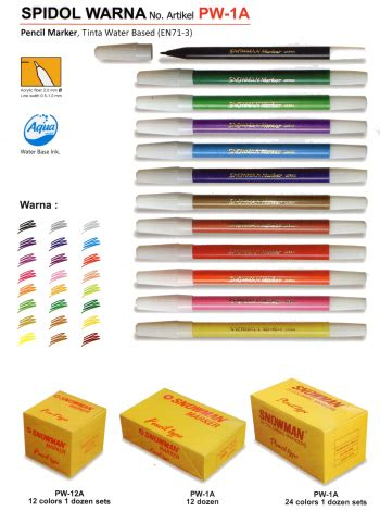 Coloring With Spidol by Spidol Coloring Marker Snowman 12 Warna Primajaya