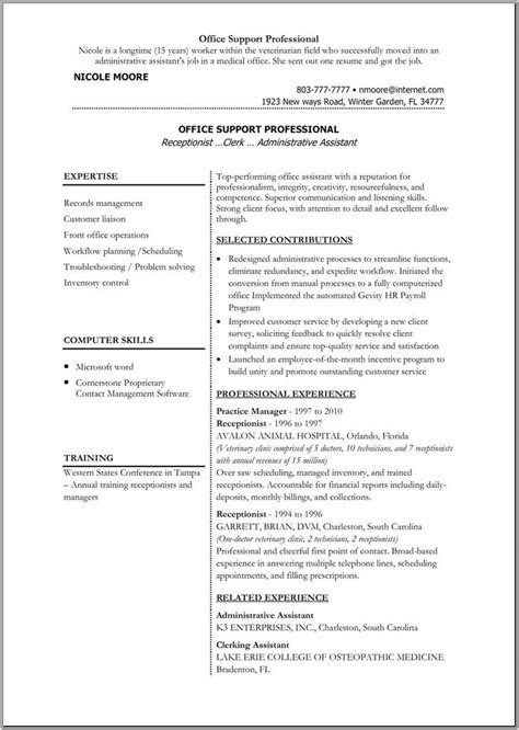 Assistant Resume Template by 30 Blank Resume Templates Free