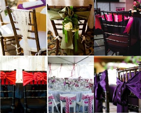 deco chaise mariage décoration de chaise de mariage