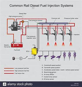 Common Rail Direct Fuel Injection Is A Direct Fuel Injection System Stock Vector Art