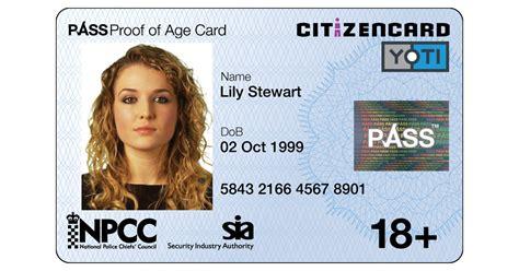 citizencard uk photo id card  proof  age