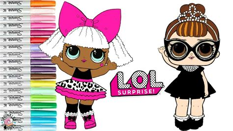 Lol Surprise Dolls Coloring Book Page It Baby And Diva Lol