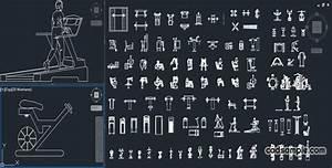 Gym equipment CAD Blocks Free DWG » CADSample Com
