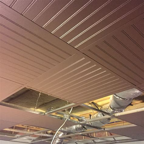 Drop Ceiling Grid by Suspended Ceiling Drop Ceiling Grid Painted With Bead