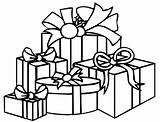 Coloring Gift Presents Pages Boxes sketch template