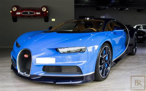 One is a ready car, that can be viewed and shipped. Used 2016 Bugatti Chiron blue 1450 Km for sale | For Super Rich