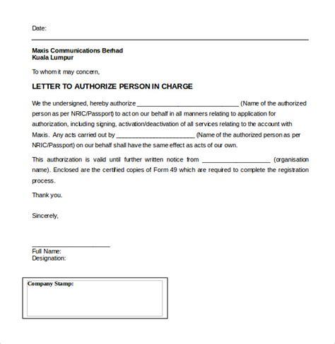 sample letter  authorization form